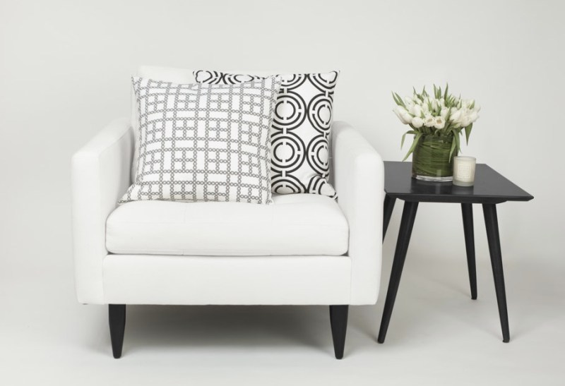 Cococozy Pillows Black White chair