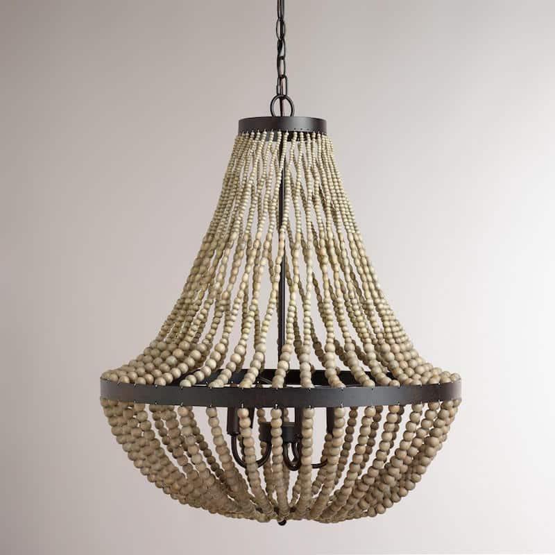 large beaded chandelier