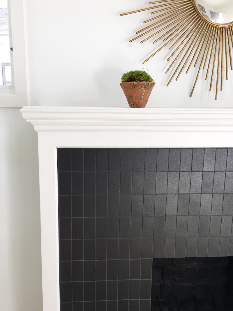 venice cottage fireplace detail