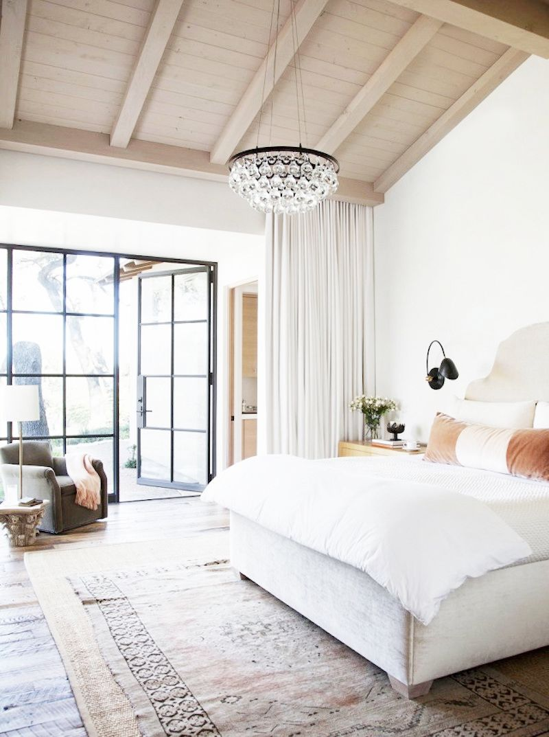 ochre chandelier bedroom