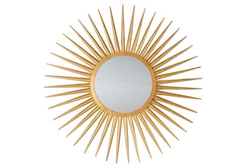 gold sunburst mirror venice cottage