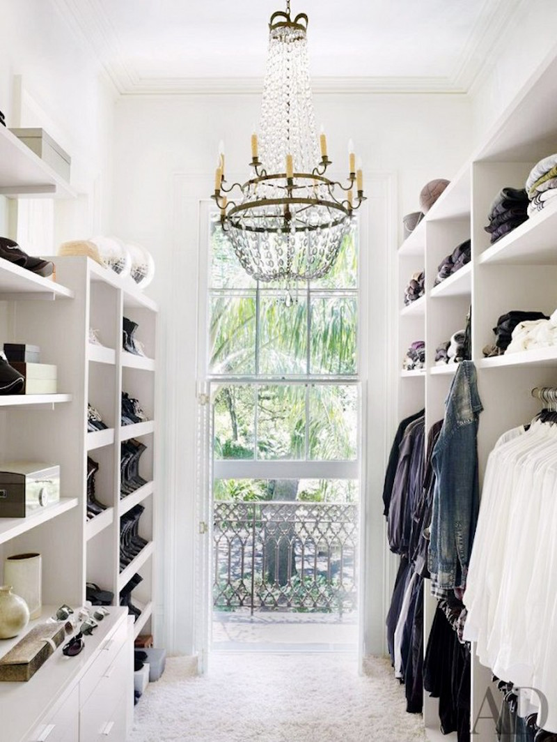 11 glam closets cococozy chandelier closets walk in white aloadofball Image collections