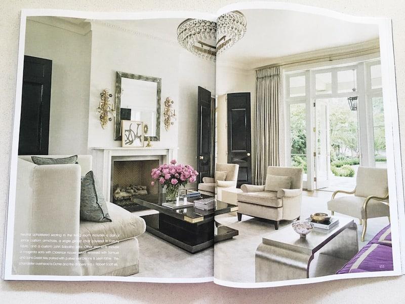 ochre chandelier living room