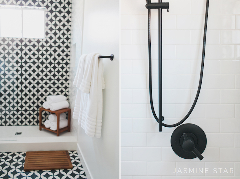 Mid Renovation From @lindyegalloway Black White Bathroom Shower