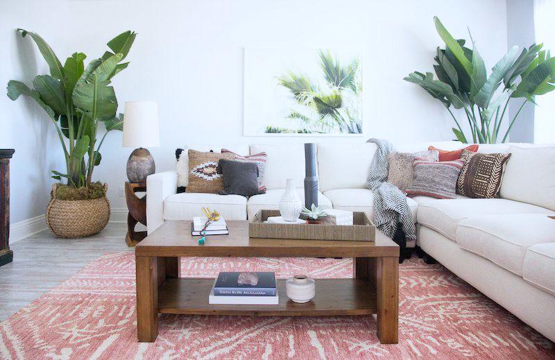 living room l shape sofa coffee table
