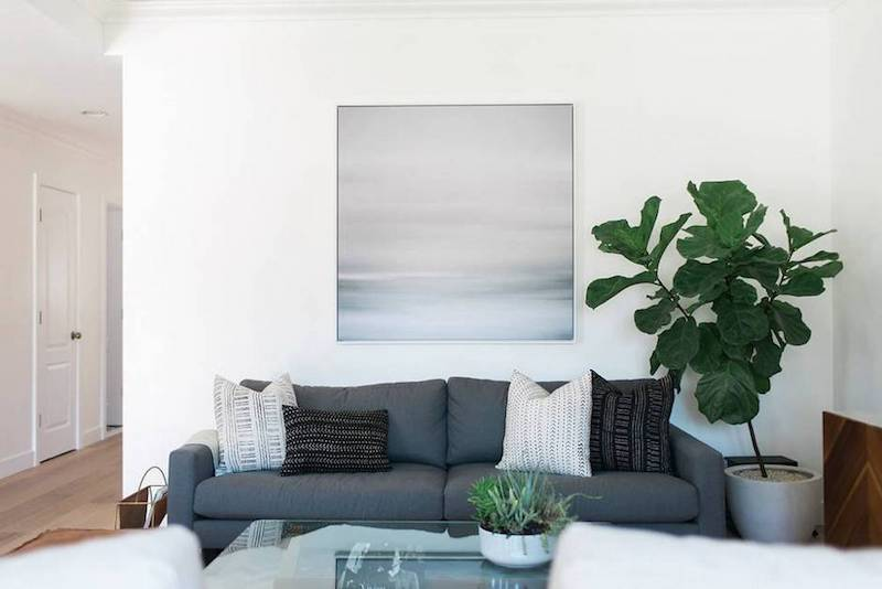 before after living room sofa white grey blue