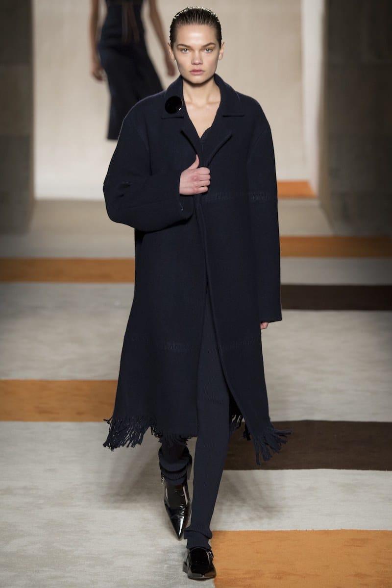 beckham fall fringe black coat