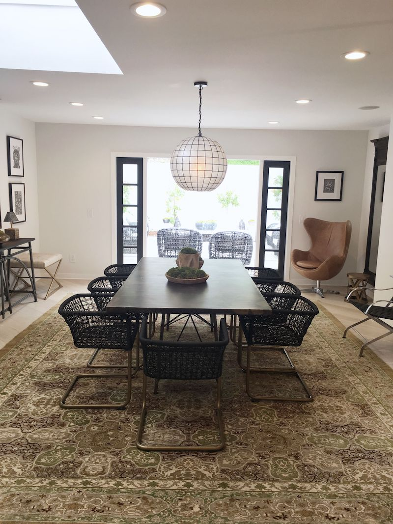 Eclectic Modern Dining Room Table Chairs