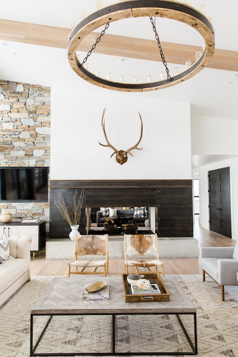 Modern Mountain Living Room Cococozy