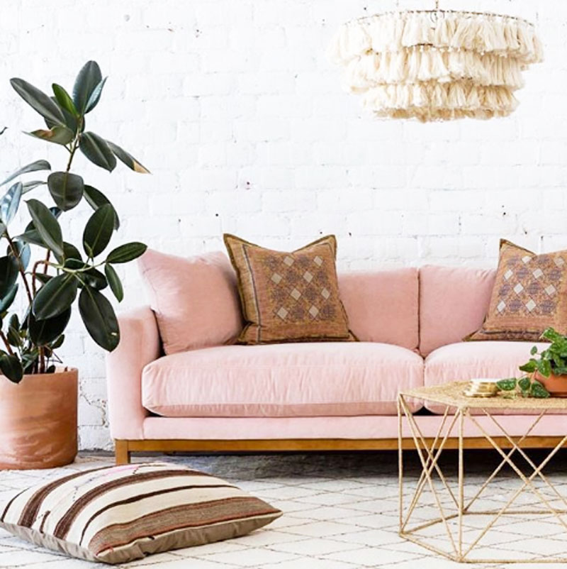 Super Sitting Pretty In 27 Of The Most Trendy Pink Sofas Cococozy Interior Design Ideas Gentotthenellocom