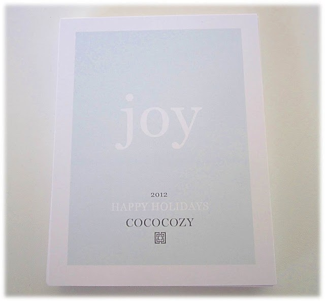 COCOCOZY holiday card 2012