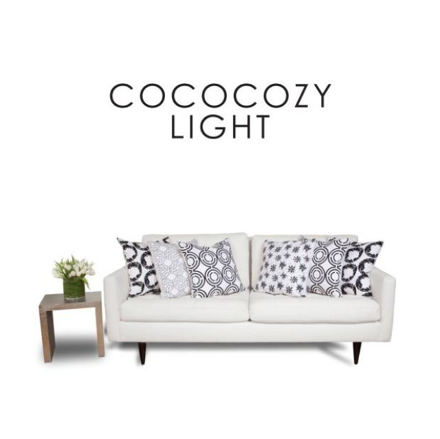 COCOCOZY Light pillows on a white sofa
