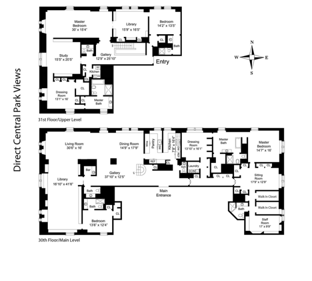 Floor plan of an apartment