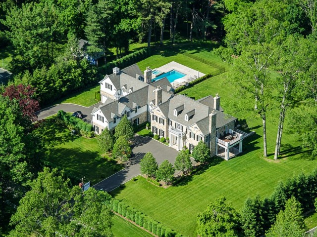 Exterior of a multi million dollar Greenwich, CT home