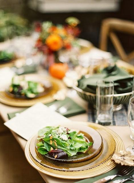 Al fresco fall dining table set up