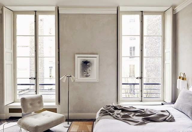 Master bedroom in a Paris home by Joseph Dirand