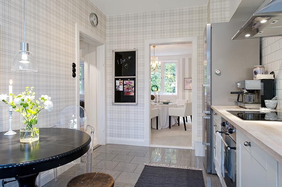 Smart design: plaid kitchen! cococozy