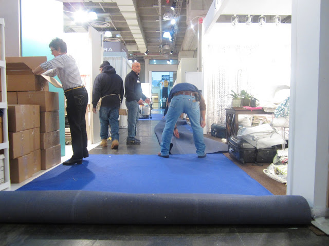 Packing up the COCOCOZY booth at New York International Gift Fair