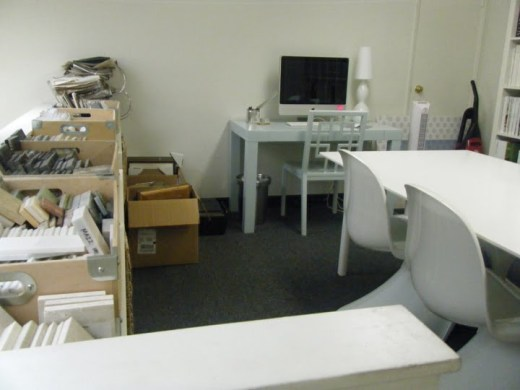 Avenue Interior Design's office before they redecorated it