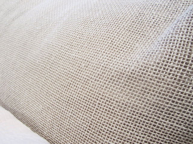 Close up of one of the mesh pillows