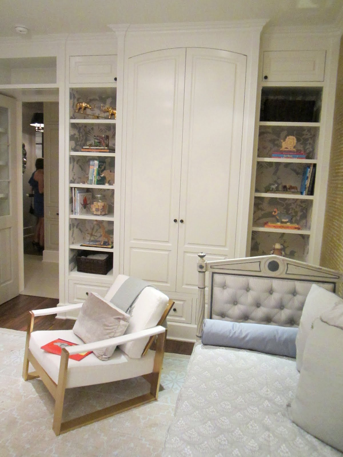 Built In Bookshelves And Cabinets In The Baby Room In The Windsor House,  The Bookshelves