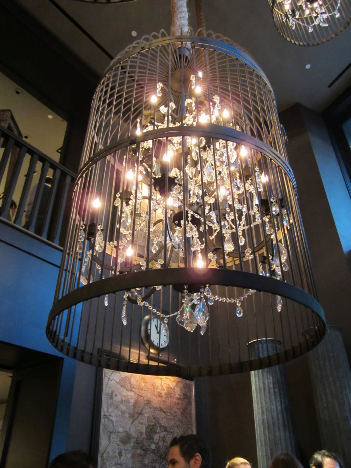 Unique Close up of a birdcage chandelier