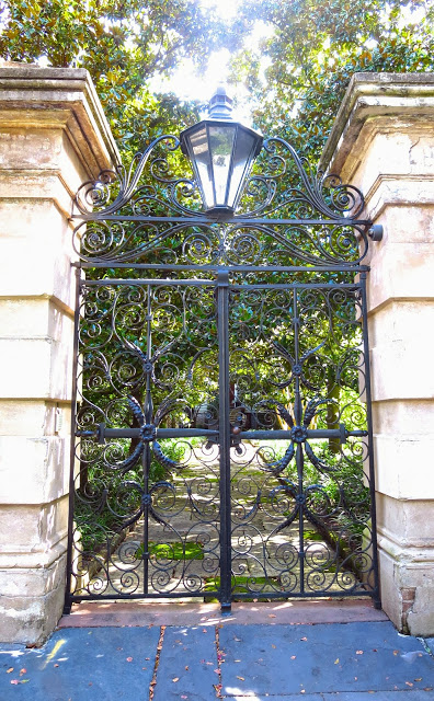 Entrance to the Sword Gate House in Charleston, South Carolina