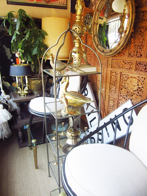 vintage etagere