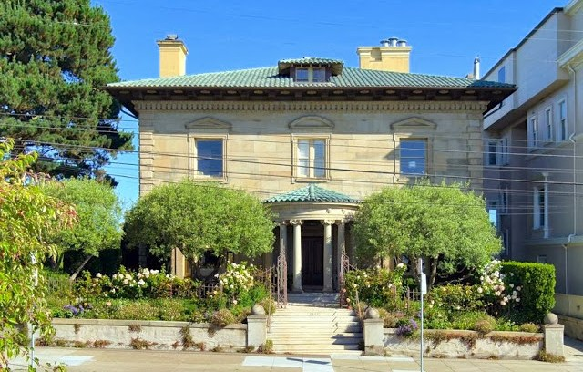 Exterior of a historic mansion in San Francisco