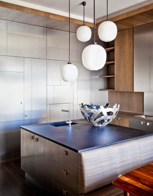 Modern kitchen with sleek cabinets by Jerome Galland