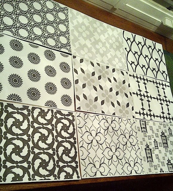 All of the designs for the COCOCOZY Cotton collection laid out on a table