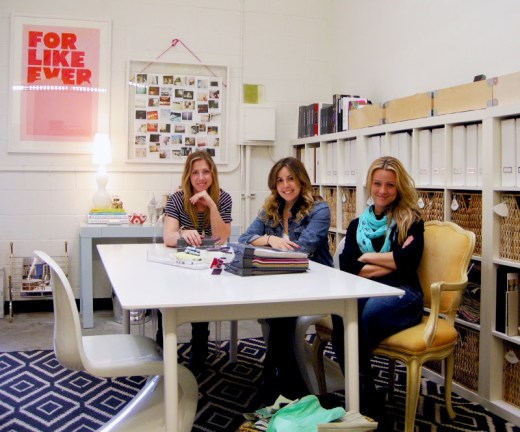Designers Andrea DeRosa, Ashley Manhan and Casey Noble in their office