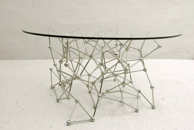 Molecular Coffee Table with silver leaf finish