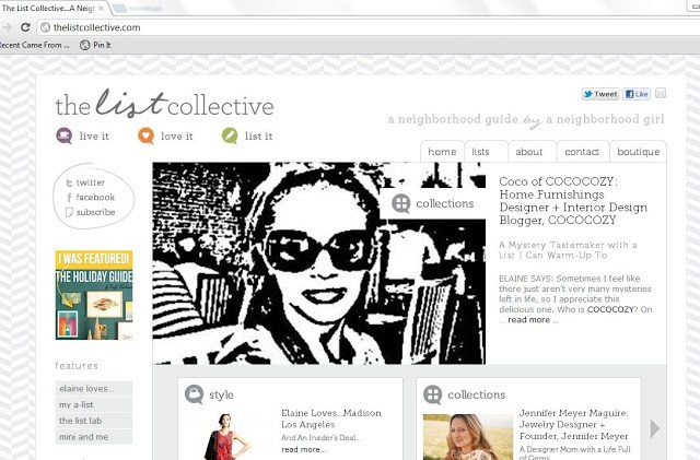 """sketch"" of Coco from COCOCOZY on the home page of The List Collective"