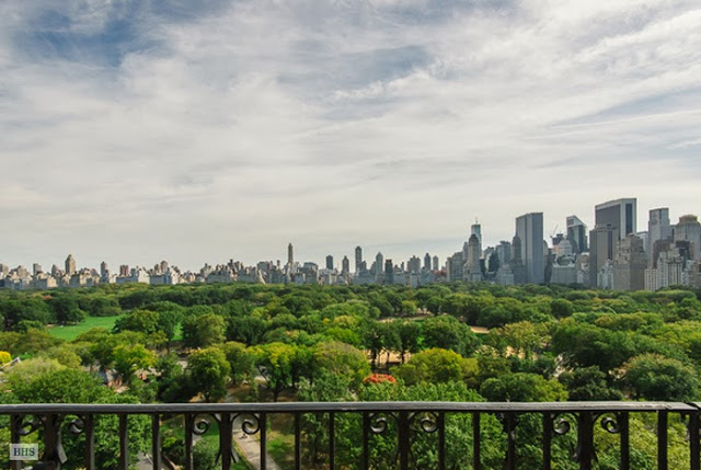 View of Central Park from a New York City penthouse