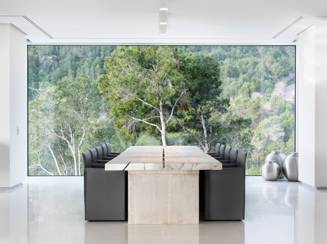 Villa Chameleon Mallorca Spain dining room with view