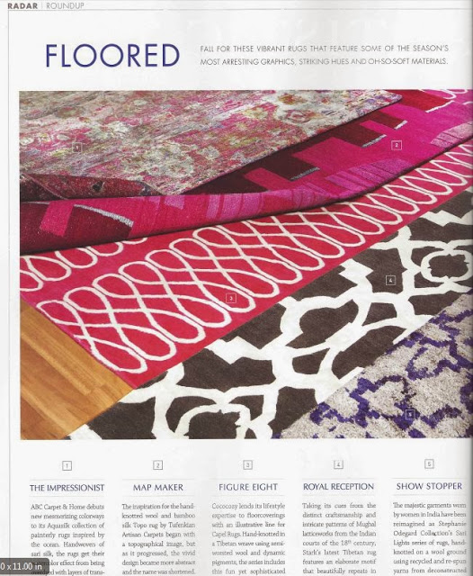 Pink COCOCOZY Loop Rug in Luxe Magazine
