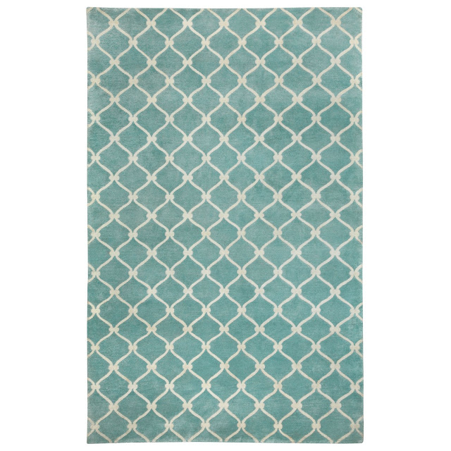 COCOCOZY Fence Rug in light blue