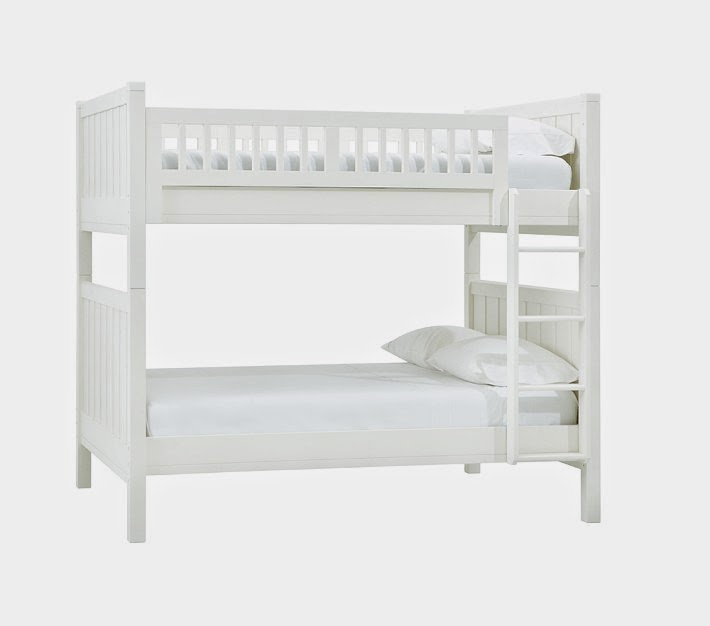 Elegant Classic white bunk bed above u Click here to shop
