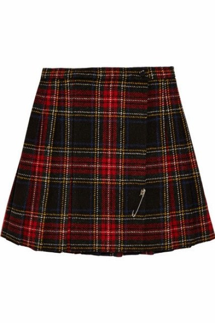Saint Laurent - Tartan Wool Mini Skirt