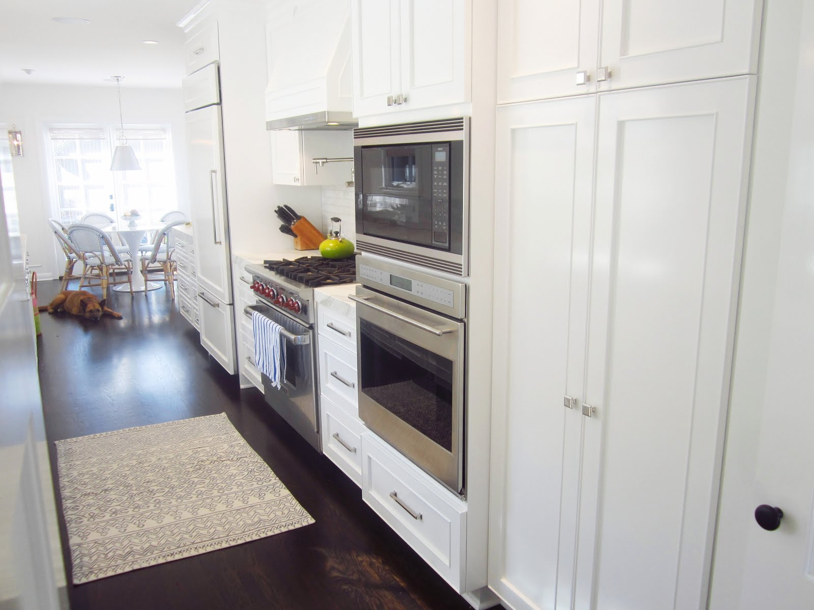 Galley Kitchen With Breakfast Nook Of Cococozy Exclusive A Chic Galley Kitchen Cococozy