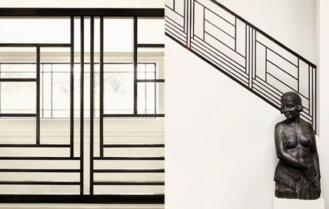 Graphic modern bannister