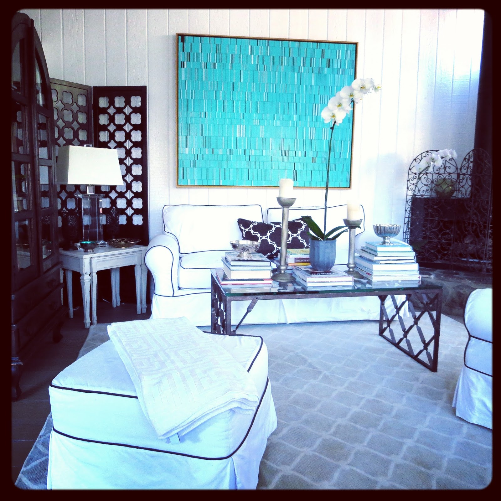 white and turquoise living room artist brian wills amp my living room cococozy 22557