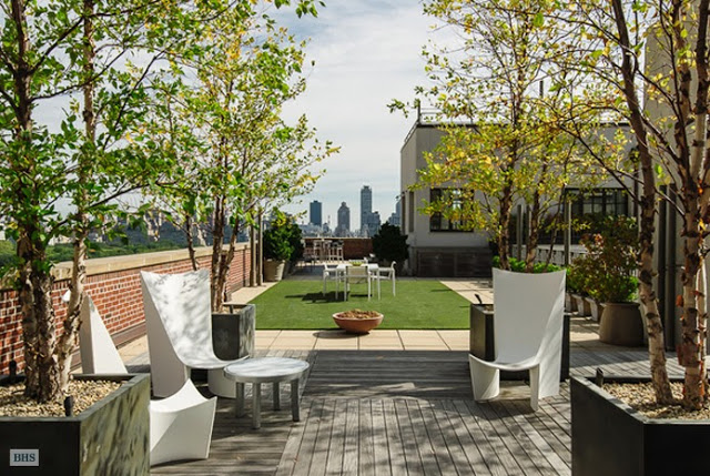 Roof top patio of a NYC penthouse