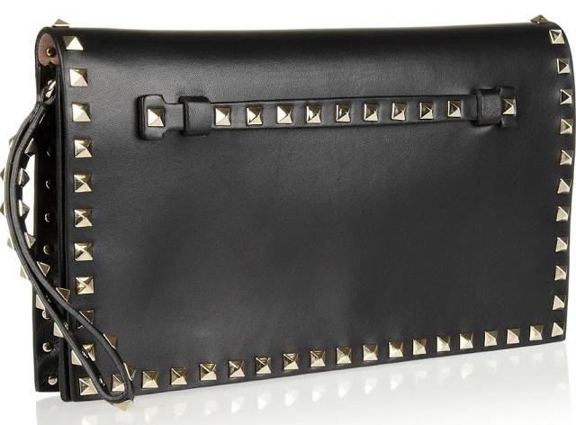 Black Valentino Rockstud Clutch