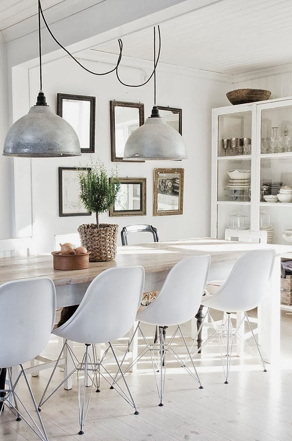 White Eames Chair Dining Room Table