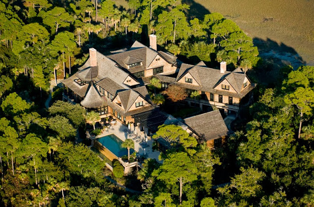 Aerial view of a South Carolina estate