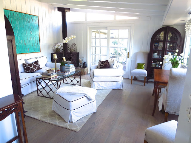 Coco of COCOCOZY's living room with a natural fence rug