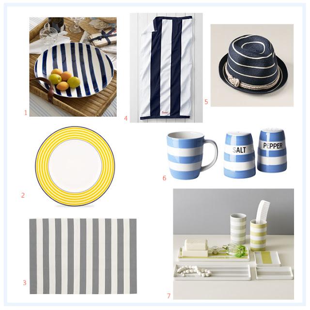 Designer Liz Joy's favorite striped things