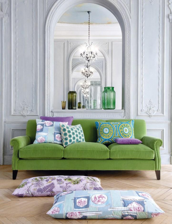 colorful sofas - green sofa